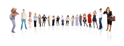 Circle of 17 people Royalty Free Stock Image