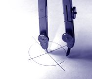 Circle. Drawing a circle monochrome photo stock photos