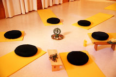 Circle. Empty place for yoga in yellow Stock Images