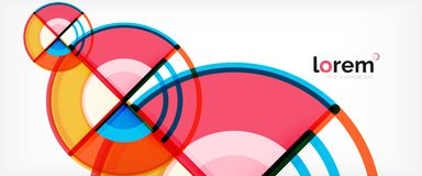 Circle abstract background, bright colorful round geometric shapes. Vector illustration vector illustration