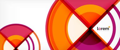 Circle abstract background, bright colorful round geometric shapes. Vector illustration royalty free illustration