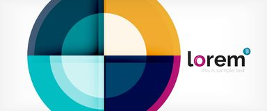 Circle abstract background, geometric modern design template stock illustration