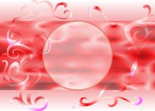 Circle Abstract Background on Pink no. 14. Shapes abstract background and circle on pink for your design Stock Photo