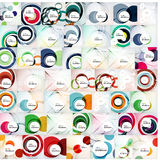 Circle abstract background vector mega collection Stock Images