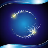 Circle abstract and blue shiny frame background Royalty Free Stock Photos