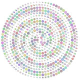 Circle abstract colorul dotted vector background Stock Photo