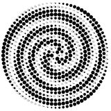 Circle abstract dotted vector background Stock Photos