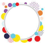 Circle Abstract Frame Background. Cirle bacckground / frame/ border with colorful design Stock Photos