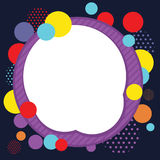 Circle Abstract Frame Background. Cirle bacckground / frame/ border with colorful design Vector Illustration