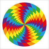 Circle of abstract psychedelic rainbow Royalty Free Stock Photography