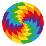 Circle of abstract psychedelic rainbow Stock Image