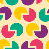 Circle Abstract retro pattern. Round background for fabric Royalty Free Stock Images