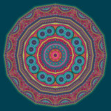 Circle abstract tribal ethnic background. Vector illustration Stock Images
