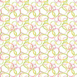 Circle acrylic and watercolor painted background. Seamless pattern Stock Photography