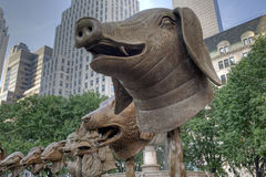 Circle of Animals/Zodiac Heads, Royalty Free Stock Photography