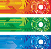 Circle and arrow background Stock Photo