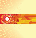 Circle and arrow background Royalty Free Stock Image