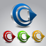 Circle With Arrow Icon Stock Images