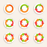 Circle arrow icon stock illustration