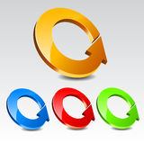 Circle Arrow Icon Set Stock Photos