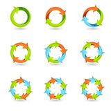 Circle Arrow Icons Stock Photo