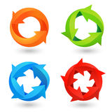 Circle Arrow Icons Set Stock Photos