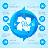 Circle arrow infographic Stock Photography