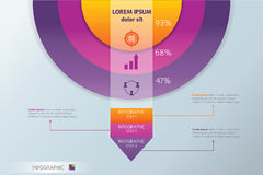 Circle and arrow Infographic. Concept - Scheme. Statistics graphic design Royalty Free Stock Photography