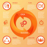Circle arrow infographic Stock Photos