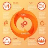Circle arrow infographic Stock Photos