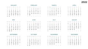 Calendar infographic, table chart, presentation chart. Business period concept. Task manager. Week, month. 2022 year. Circle arrows diagram for graph infographic Royalty Free Stock Photography