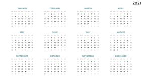 Calendar infographic, table chart, presentation chart. Business period concept. Task manager. Week, month. 2021 year. Circle arrows diagram for graph infographic Royalty Free Stock Photography