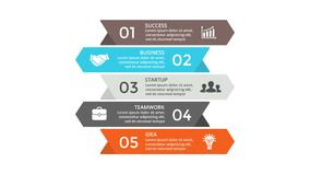 Vector arrows infographic. Business concept with options, parts, steps, processes. Circle arrows diagram for graph infographic presentation with steps parts Stock Photo
