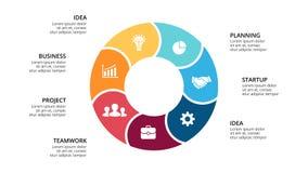 Vector circle arrows infographic, cycle diagram, geometric graph, presentation  Royalty Free Stock Photos