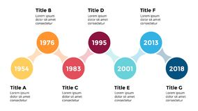 Vector arrows circles timeline infographic, diagram chart, graph presentation.. Circle arrows diagram for graph infographic presentation with steps parts Royalty Free Stock Images