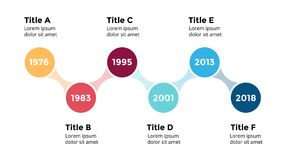 Vector arrows circles timeline infographic, diagram chart, graph presentation. Circle arrows diagram for graph infographic presentation with steps parts options stock illustration