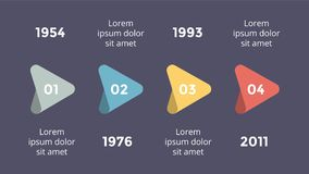 Vector metaball triangles timeline infographic, diagram chart, graph presentation. Business progress concept with 4 Stock Image