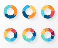 Circle arrows for infographic, diagram, graph Royalty Free Stock Photo