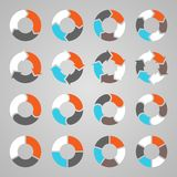 Circle arrows for infographic, diagram, graph Stock Images