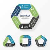 Circle arrows infographic, diagram, options. Royalty Free Stock Image