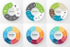 Circle arrows infographic, diagram, options. Royalty Free Stock Photos