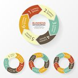 Circle arrows infographic, diagram, steps. Stock Image