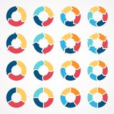 Circle arrows infographic diagram 3, 4, 5, 6 Royalty Free Stock Images