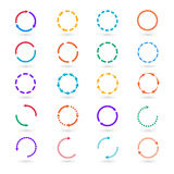 Circle arrows infographic elements vector set Stock Images