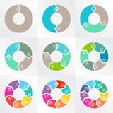 Circle arrows for infographic. Royalty Free Stock Photo
