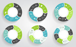 Circle arrows infographic. Vector template in flat design style. Stock Image