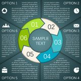 Circle arrows infographics, diagram, graph. Royalty Free Stock Image