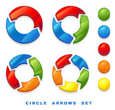 Circle arrows set. Royalty Free Stock Photos