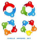 Circle arrows set. Stock Images