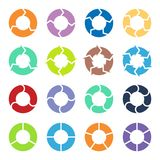 Circle arrows set Stock Images